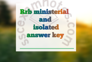 rrb ministerial and isolated answer key